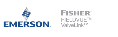 The Fisher FIELDVUE and ValveLink product identities represent their line of valve controllers and instruments