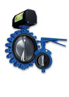 The Keystone product identity represents their line of high performance butterfly valves